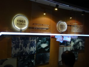 上海地下鉄博物館の歴史紹介コーナー