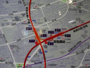 常熟路駅周辺図