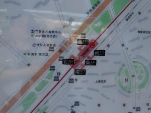 蓮花路駅周辺図