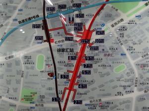 徐家匯駅周辺図