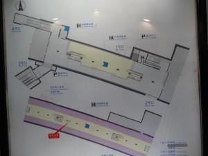 伊犁路駅構内図