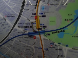 虹口足球場駅周辺図