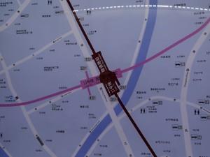 隆徳路駅周辺図
