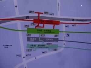 龍陽路駅周辺図