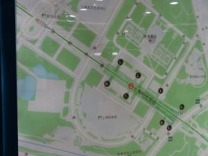 上海科技館駅周辺図
