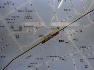 宝山路駅周辺図
