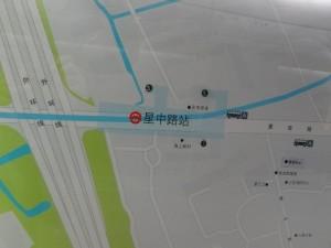 星中路駅周辺図(出入り口)
