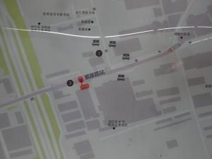紫藤路駅周辺図(出入り口)