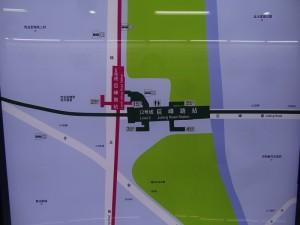 巨峰路駅周辺図(出入り口)