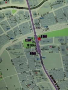 豫園駅周辺図