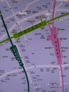 南京西路駅周辺図