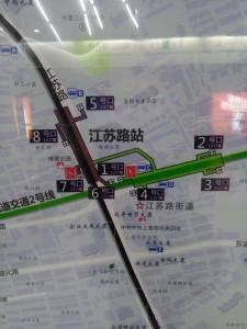 江蘇路駅周辺図