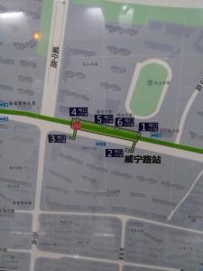 威寧路駅周辺図