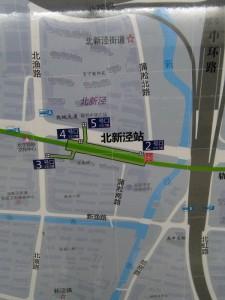 北新涇駅周辺図