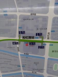 淞虹路駅周辺図