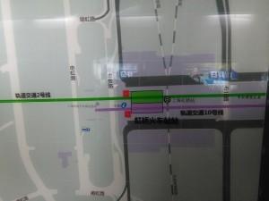 虹橋火車站駅周辺図