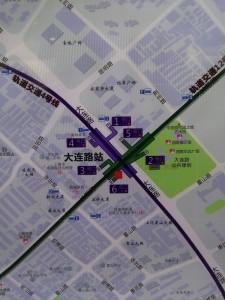 大連路駅周辺図