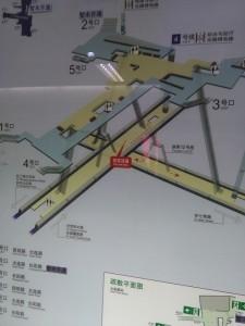 大連路駅構内図