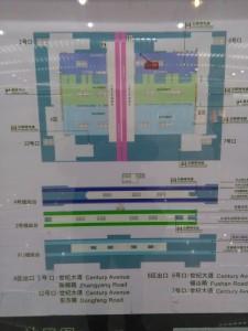 世紀大道駅構内図