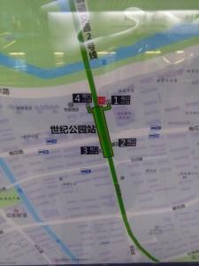 世紀公園駅周辺図