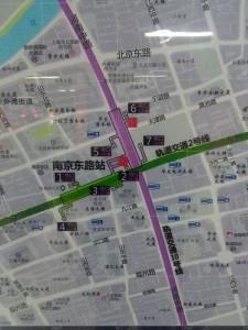 南京東路駅周辺図