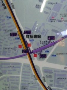 虹橋路駅周辺図