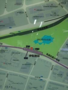 伊犁路駅周辺図