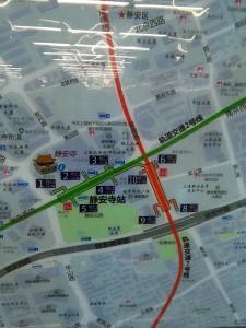 静安寺駅周辺図