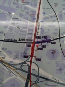 上海体育館駅周辺図