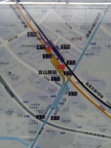 宜山路駅周辺図