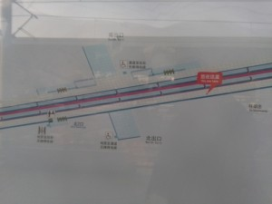 外環路駅構内図