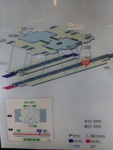 莘庄駅構内図