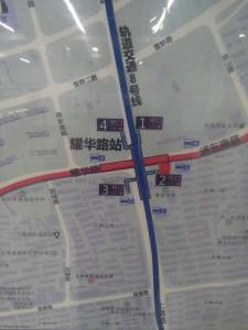 耀華路駅周辺図