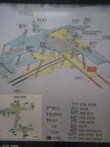 龍華中路駅構内図