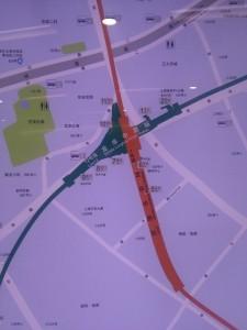 龍華中路駅周辺図