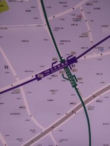 大木橋駅周辺図