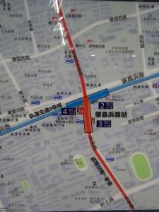 肇嘉浜路駅周辺図