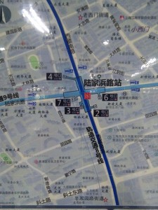 陸家浜路駅周辺図
