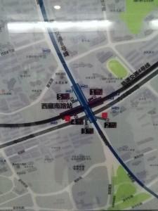 西蔵南路駅周辺図