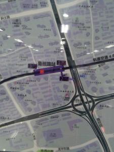 魯班路駅周辺図