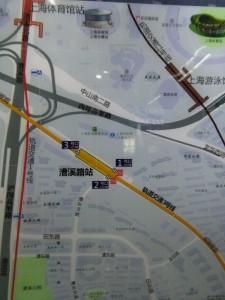 漕渓路駅周辺図