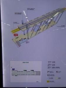 龍漕路駅構内図(3号線)