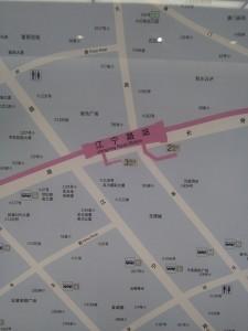 江寧路駅周辺図