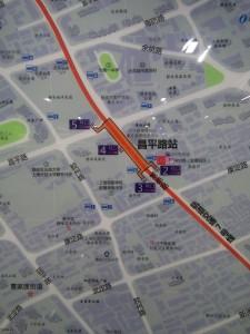 昌平路駅周辺図