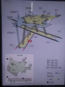 漢中路駅構内図