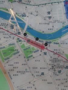 新閘路駅周辺図