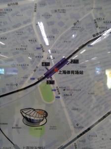 上海体育場駅周辺図