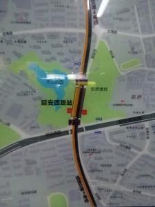 延安西路駅周辺図