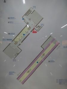 上海図書館駅構内図