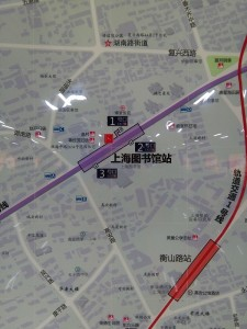 上海図書館駅周辺図